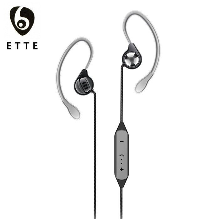 Sport Bluetooth Earphone with Mic Volume Control, Bluetooth Headphones Sport Earphone Ear Hook Design