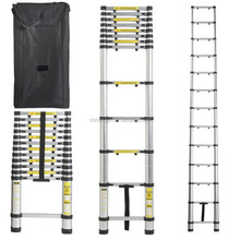 12.5'ft Aluminum Telescoping Extension Ladder / Telescopic ladder/Telesteps with Finger protection Stoppers + Free Carry Bag