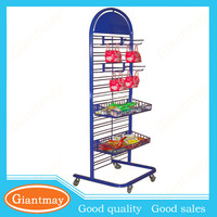 metal hooks and baskets snack hanging display stands