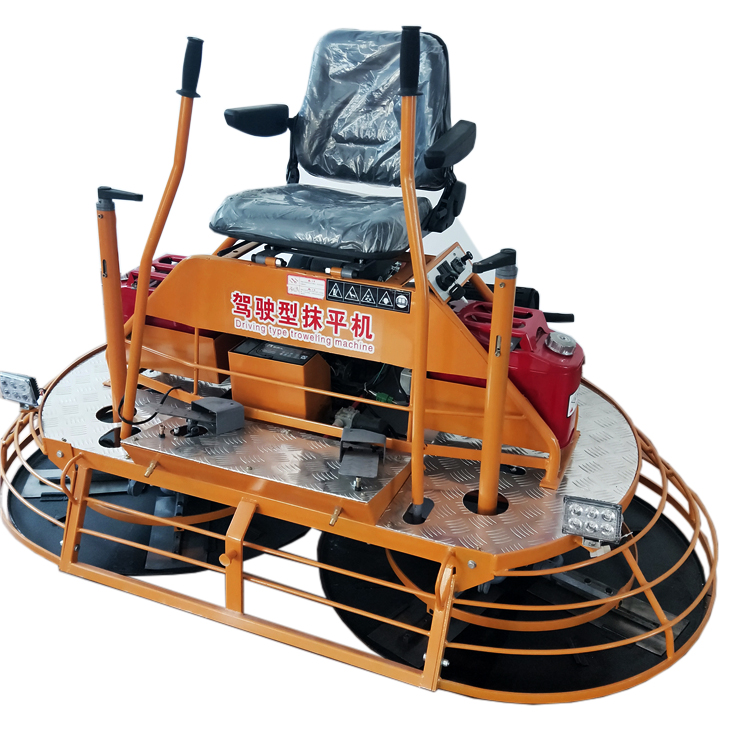 mini concrete road ride on power trowel machine