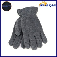HZS-13197009 Hot sale 2015 sample black double ply women's free sample 100% polyester snow black protective gloves man