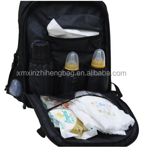 Baby Diaper Backpack with Changing Pad, Travel Diaper Bag (Black)