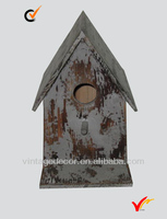 shabby chic hand paint vintage wooden craft bird house