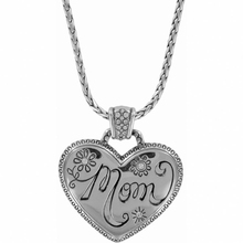 sterling silver heart meaningful pendant necklace for mom