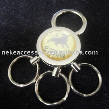 alloy key ring with three ring