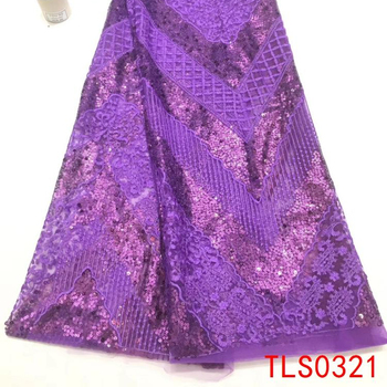 "2018 fashion sequins lace product type and 51-52"" width bling sequins net lace fabric"