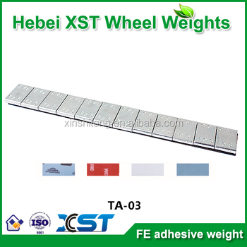 blue tape fe strip zn plated rim weight