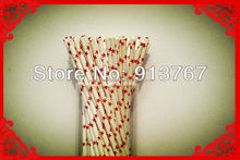 Flavored Drinking Straw High Quality Valentine's Day Paper Drinking Straws