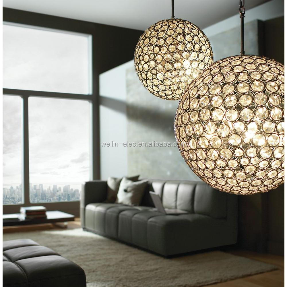Crystal Chandelier Light with Octagonal Crystal Elements, A Handsome Chrome Finish Appearance