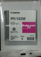 PFI102 ink cartridge Cyan For Canon LP17 / LP24, Canon iPF500 / 600 / 605 / 610 / 650 / 655, Canon iPF700 / 710 / 720 / 750 / 75