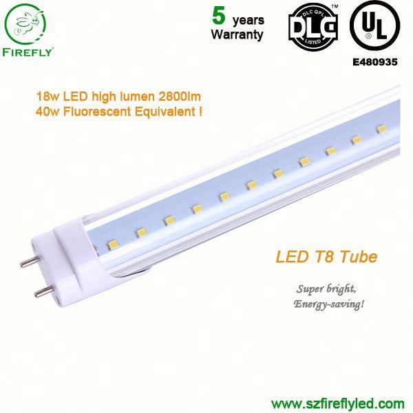 Hottest 115lm/w led fluorescent tube t18 for Meeting Room project