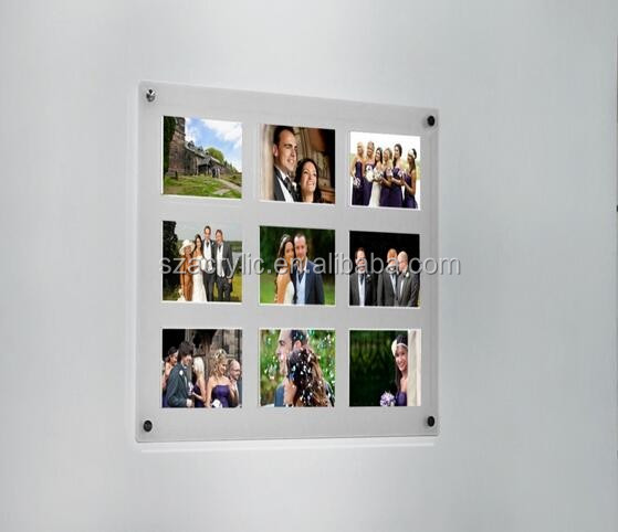 "acrylic magnetic wall frame for 4 photo 5""x7"""