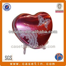 Heart sharp Wedding decoration packing tin box/food cans/machine making box