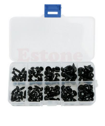 Hot 100pcs 6-12mm Black Plastic Safety <strong>Eyes</strong> For Teddy Bear Doll Animal Puppet Crafts