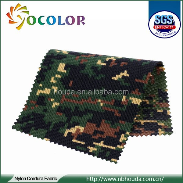 durable Forest green waterproof 1000d nylon cordura fabric for military products,military bag's material