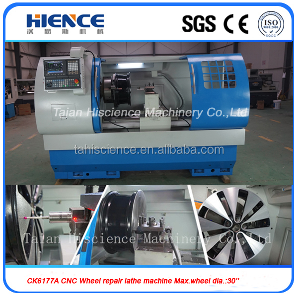 new alloy wheel making and repairing cnc lathe machine CK6177A(one year warranty.CE/ISO.28inch diameter wheels)