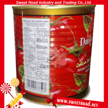 Canned Tomato Paste Sauce Puree Ketchup for OEM