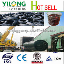 Oil and carbon black extract machine by using tyre pyrolysis plant from YILONG