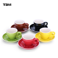 Customized LOGO ceramic espresso cups and saucers