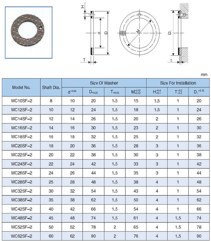 SF-2 Marginal Lubricating Bearing DX Bushing Black/Yellow POM Tin-plating or Copper plating Washer Sleeve Bushing