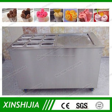 Bigh square pan 2cm rolls fried ice cream machine for sale(skype:xinshijia.jessica)