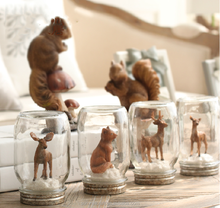 Fashion resin christmas mini animal in a bottle