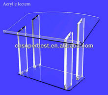 Clear acrylic lectern podium pulpit