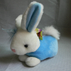 Blue shirt cute face stuffed rabbit plush bunny plush animal plush rabbit toy