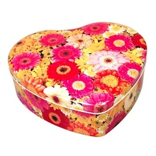 customized heart chocolate candy tin box heart shaped gift tin cans
