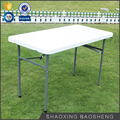 2017 presold white plastic rectangle folding dining table (blow mould, HDPE, outdoor,banquet,camping)