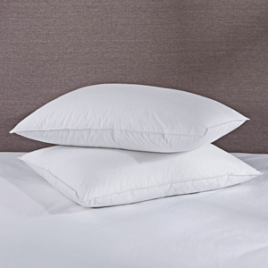 FREE SHIPPING! 50% DOWN & 50% FEATHER BED PILLOWS, 300 TC, 100% COTTON COVER,WHITE, 2 PACK
