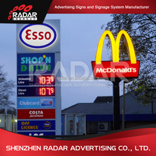 Led illumilated gas station price signs pylon advertising sign for sale