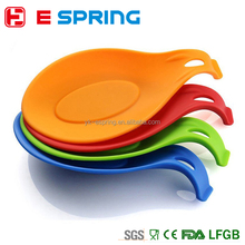 Kitchen Tools Silicone Heat Resistant Spoon Rest Stand Holder Fork Mat