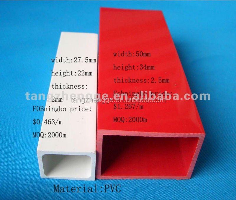 Rectangular pvc tubo hueco pvc r gido tubo cuadrado tubo - Tubo pvc cuadrado ...