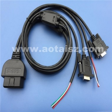 S06 Made in China shop obd ii Y splitter cable RS232 interface diagnostic tool