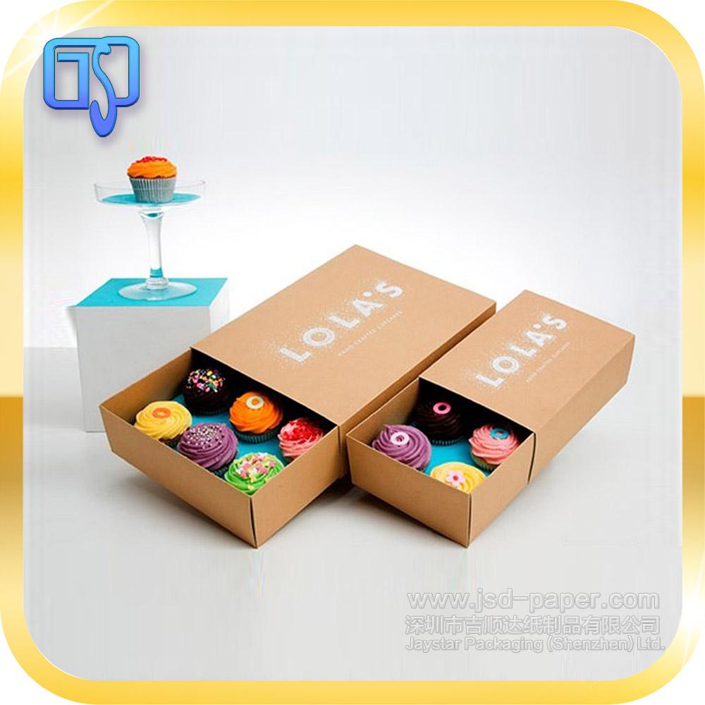 2017 Luxury Design Food Packaging Paper Kraft Box Recycled Brown