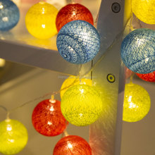 Factory Price 10 Led Light Chain Cotton Balls String Lights