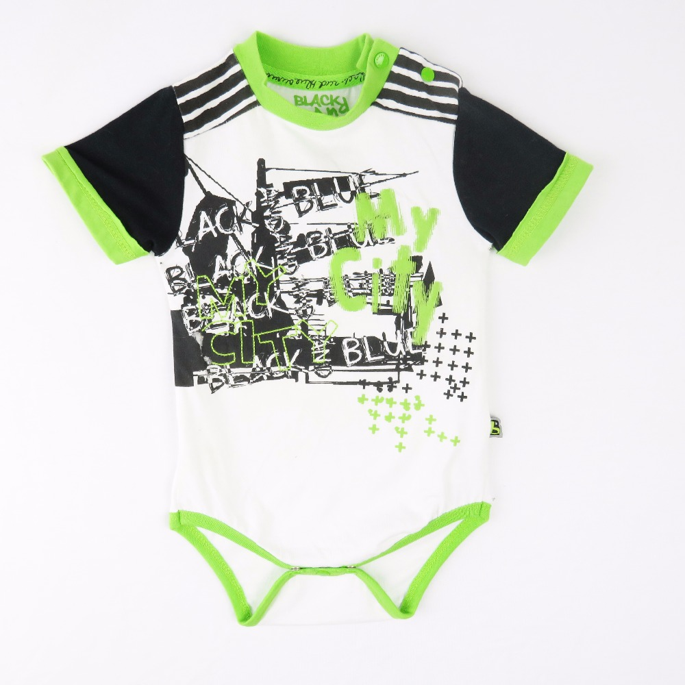 Baby Clothes Plain Romper Short Sleeve Cotton Boy Creeper Personalized Snaps Design Baby Bodysuit
