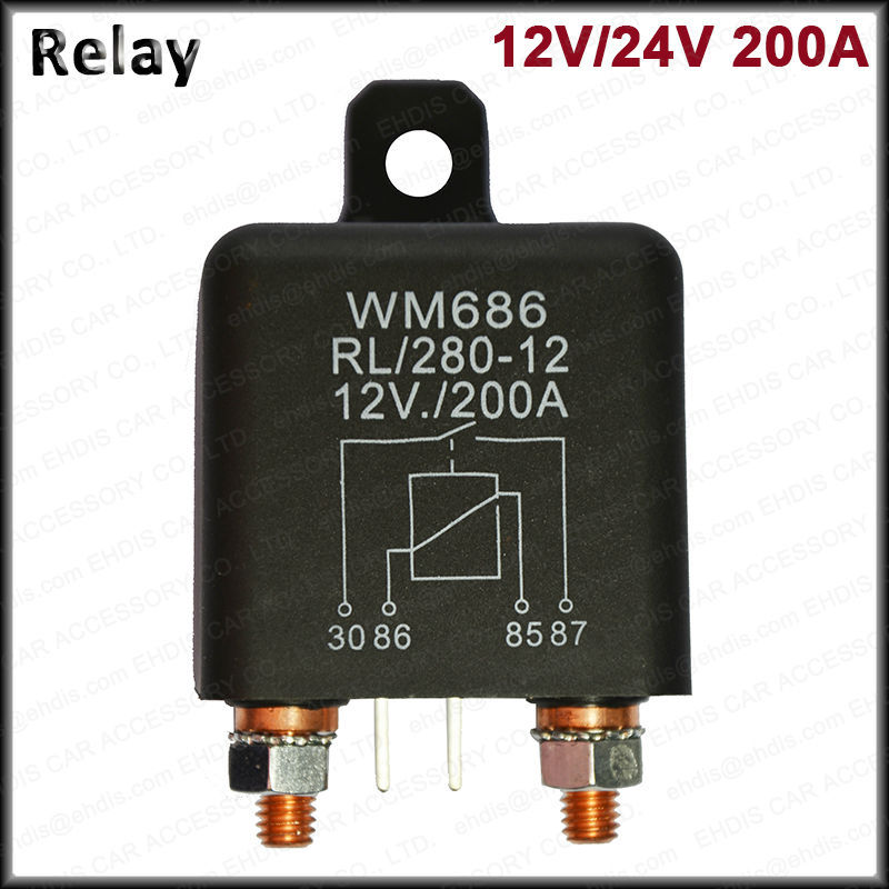 12V Heavy Duty Relay Split Charge Winch 200A amp 4 Pin Relay