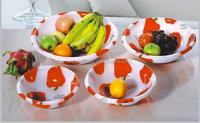 Round Plastic fruit food Serving Acrylic Washbasin fruit bowls