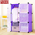 Bedroom wardrobe colour modern foldable simple plastic wardrobe cabinet