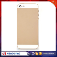 Hot Sale!For iphone 5 gold housing 24k,for iphone 5 back housing