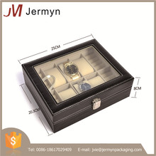 High quality wholesale custom luxury leather watch display box for men