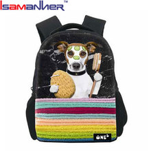 10pcs WHOLESALE full dog printing kids backpack primary <strong>school</strong> 3D student backpack