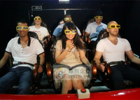 4D projector and 4D simulator for 4D cinema