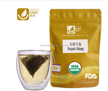 Pyramid shape tea and teabag in different flavors with kraft paper bag