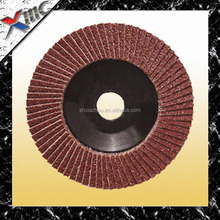 "4''*5/8"" grit 80# quality radial blade abrasive flap disc for metal grinding"