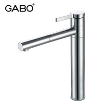 Single Hole Bathroom Push Down Brass Basin Faucet Mixer Tap