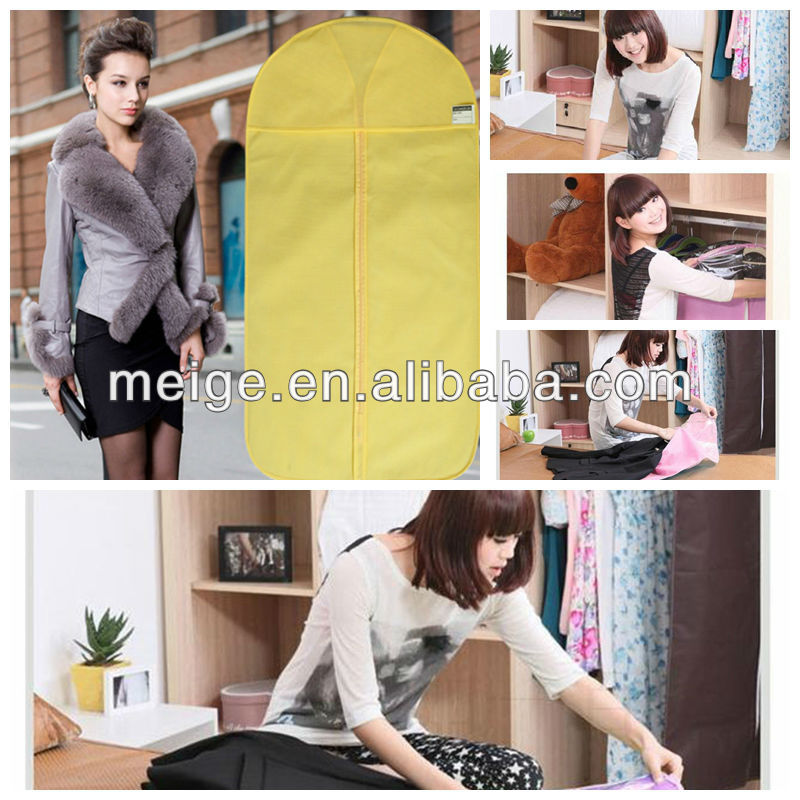 Wholesale clear nylon garment bags with pockets/Suit Cover/garment cover