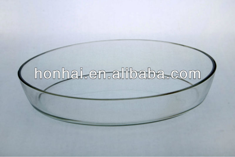 high borosilicate heat resistant oval glass roaster microwave and oven safe